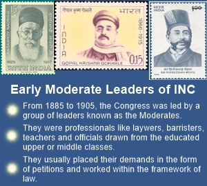 Moderate Congress Leaders worked with the British government within law