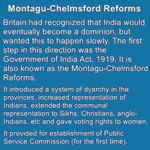 The Montagu-Chelmsford Reform