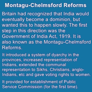 The Montagu-Chelmsford Reform