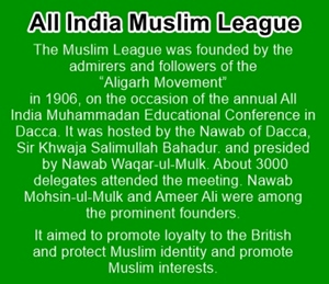 Muslim League was founded in 1906