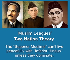 Muslim League Two nation Theory was all about Muslim dominance