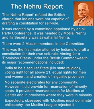 The 'Nehru Report' refuted the British charge that Indians were not capable of drafting a constitution.