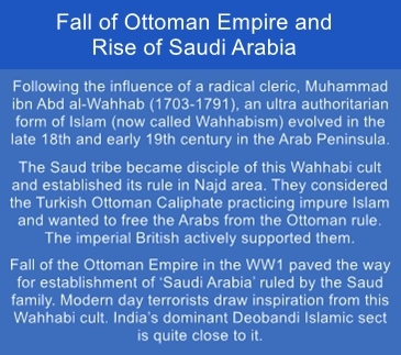 Fall of Ottoman Empire after WW1 paved way for rise of Saudi Arabia