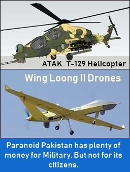 In Pakistan, Generals enjoy but poor people suffer