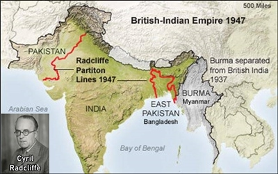 Radcliffe Line was hurriedly drawn in just 5 weeks