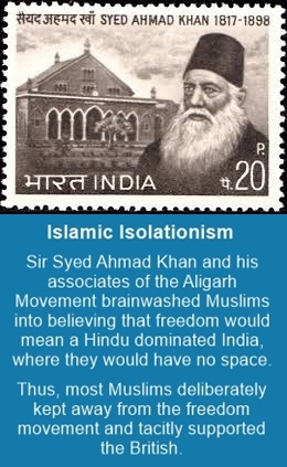 Syed Ahmad Khan sowed the seeds of Muslim separatism