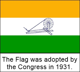 The Charkha Flag was adopted in 1931