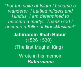 Babur proudly declared killing Hindus in Baburnama