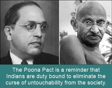 Poona Pact is a reminder that Indians are duty bound to eliminate untouchability