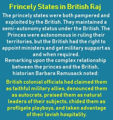 Princely States in British Raj were important British Allies