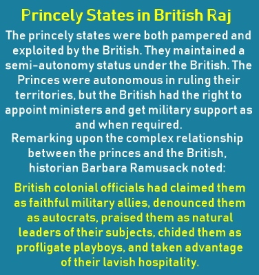 Princely States in British Raj were important British Allies