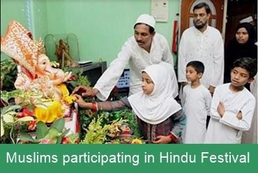 Muslims heartily participate in Hindu festivals in India