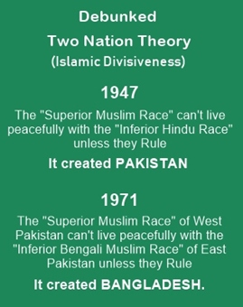Two nation Theory was absurd and divisive