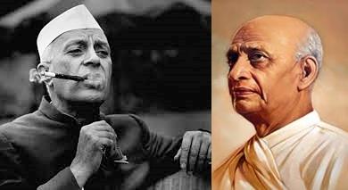 Jawaharlal Nehru and Sardar Patel