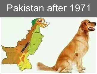 pakistan is shaped as a Dog