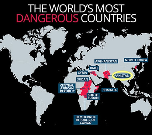 Pakistan is the most dangerous country in the world