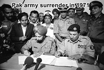 Pak army surrenders in 1971