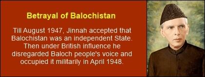 Jinnah betrayal of balochistan