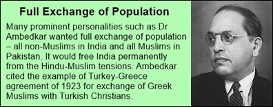 full population exchange-Ambedkar